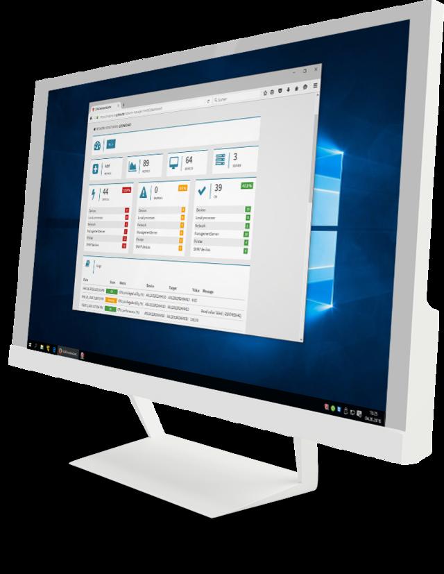 Screenshot G DATA Network Monitoring – Action Center