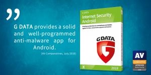 Testy porównawcze oprogramowania AV – doskonałe wyniki G DATA Mobile Internet Security